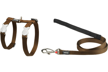 Red Dingo Cat Harness & Lead Classic Brown CH-ZZ-BR