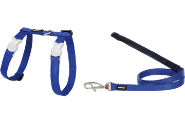 Red Dingo Cat Harness & Lead Classic Dark Blue CH-ZZ-DB