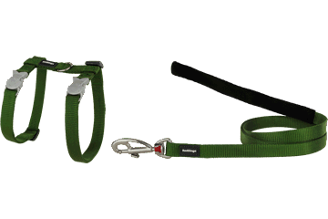 Red Dingo Cat Harness & Lead Classic Green CH-ZZ-GR
