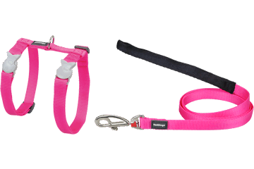 Red Dingo Cat Harness & Lead Classic Hot Pink CH-ZZ-HP
