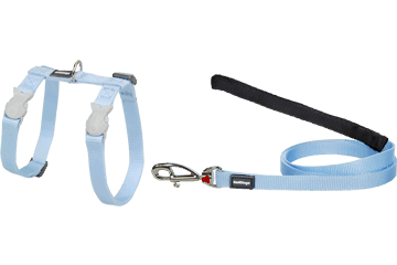 Red Dingo Cat Harness & Lead Classic Light Blue CH-ZZ-LB