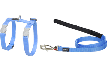 Red Dingo Cat Harness & Lead Classic Medium Blue CH-ZZ-MB