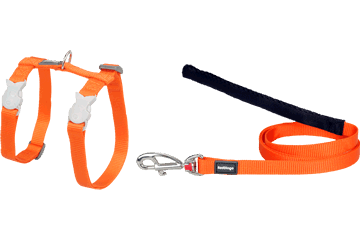 Red Dingo Cat Harness & Lead Classic Orange CH-ZZ-OR