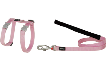 Red Dingo Cat Harness & Lead Classic Rosa CH-ZZ-PK