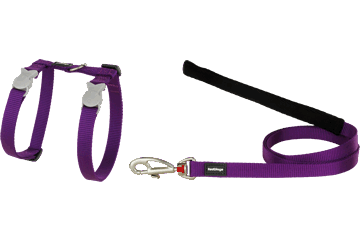 Red Dingo Cat Harness & Lead Classic Purple CH-ZZ-PU