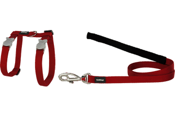 Red Dingo Cat Harness & Lead Classic Red CH-ZZ-RE