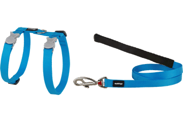 Red Dingo Cat Harness & Lead Classic Turquoise CH-ZZ-TQ