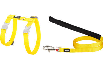 Red Dingo Cat Harness & Lead Classic Yellow CH-ZZ-YE