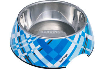 Red Dingo Stainless Steel Bowl Flanno Turquoise DB-FN-TQ