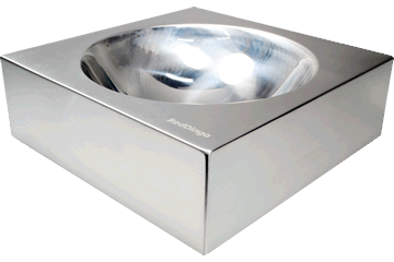 Red Dingo Stainless Steel Bowl Silver DB-SS-SI-ME