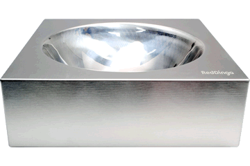 Red Dingo Stainless Steel Bowl Silver DB-SS-SI-SM
