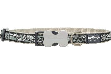 Red Dingo Dog Collar Bandana Silver DC-BA-SI