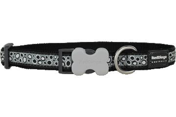 Red Dingo Dog Collar Bedrock Black DC-BE-BB