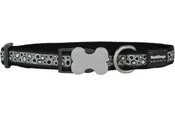 Red Dingo Dog Collar Bedrock Nero DC-BE-BB
