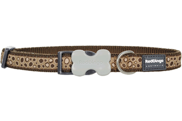Red Dingo Dog Collar Bedrock Marrone DC-BE-BR