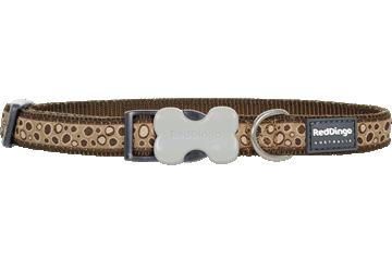 Red Dingo Dog Collar Bedrock Brown DC-BE-BR