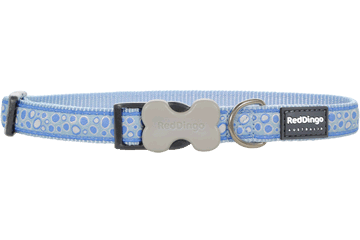 Red Dingo Dog Collar Bedrock Light Blue DC-BE-LB