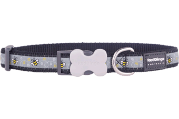 Red Dingo Dog Collar Bumble Bee Black DC-BM-BB