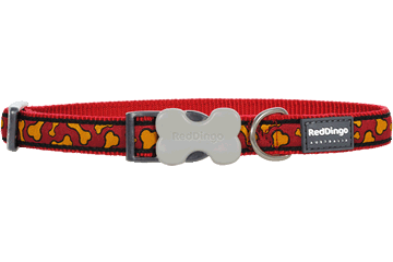 Red Dingo Dog Collar Bonarama Orange DC-BR-OR