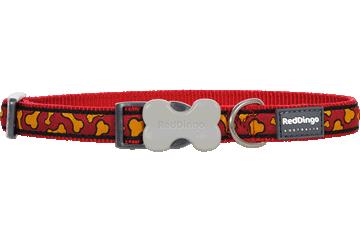 Red Dingo Dog Collar Bonarama Orange DC-BR-OR