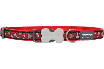 Red Dingo Dog Collar Bonarama Red DC-BR-RE