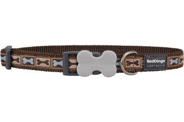 Red Dingo Dog Collar Bone Yard Brown DC-BY-BR
