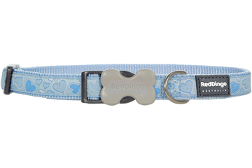 Red Dingo Dog Collar Breezy Love Light Blue DC-BZ-LB