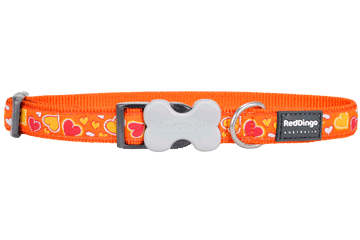 Red Dingo Dog Collar Breezy Love Orange DC-BZ-OR