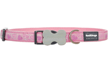 Red Dingo Dog Collar Breezy Love Pink DC-BZ-PK