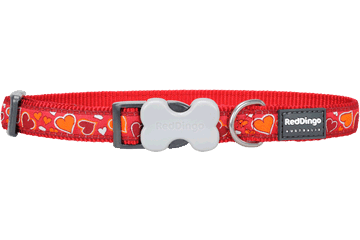 Red Dingo Dog Collar Breezy Love Red DC-BZ-RE