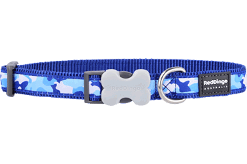 Red Dingo Dog Collar Camouflage Dark Blue DC-CF-DB