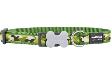 Red Dingo Dog Collar Camouflage Green DC-CF-GR