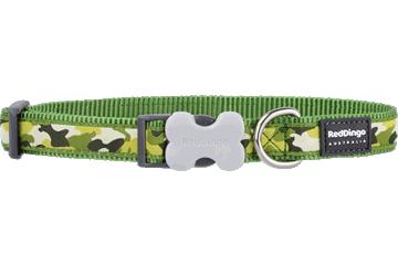Red Dingo Dog Collar Camouflage Green DC-CF-GR