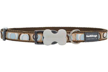 Red Dingo Dog Collar Circadelic Brown DC-CI-BR