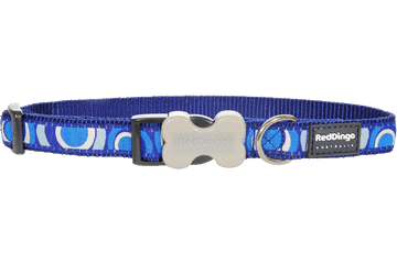 Red Dingo Dog Collar Circadelic Dark Blue DC-CI-DB