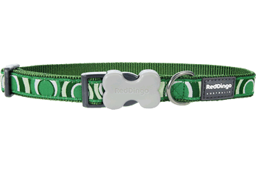 Red Dingo Dog Collar Circadelic Green DC-CI-GR