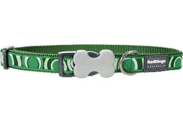 Red Dingo Dog Collar Circadelic Green DC-CI-GR