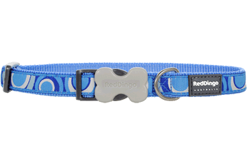Red Dingo Dog Collar Circadelic Medium Blue DC-CI-MB