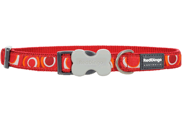 Red Dingo Dog Collar Circadelic Red DC-CI-RE