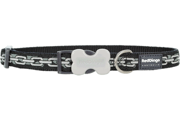 Red Dingo Dog Collar Chain Black DC-CN-BB