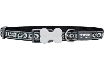 Red Dingo Dog Collar Cosmos Black DC-CO-BB