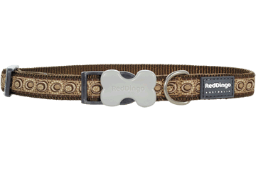 Red Dingo Dog Collar Cosmos Brown DC-CO-BR