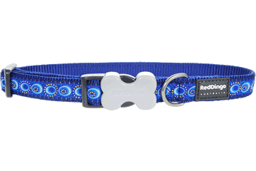 Red Dingo Dog Collar Cosmos Dark Blue DC-CO-DB