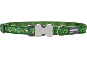 Red Dingo Dog Collar Cosmos Green DC-CO-GR