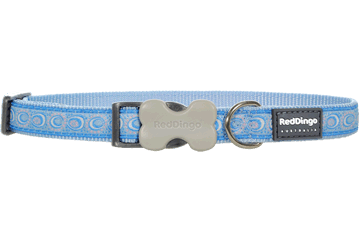 Red Dingo Dog Collar Cosmos Light Blue DC-CO-LB