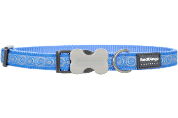 Red Dingo Dog Collar Cosmos Medium Blue DC-CO-MB