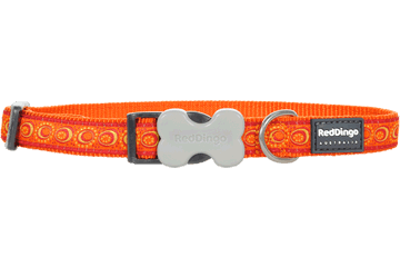 Red Dingo Dog Collar Cosmos Orange DC-CO-OR