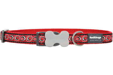 Red Dingo Dog Collar Cosmos Red DC-CO-RE