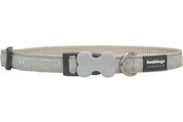 Red Dingo Dog Collar Cosmos Silver DC-CO-SI