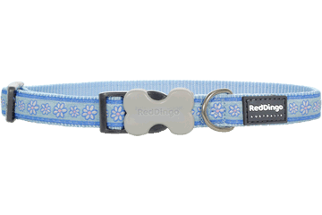 Red Dingo Dog Collar Daisy Chain Light Blue DC-DC-LB